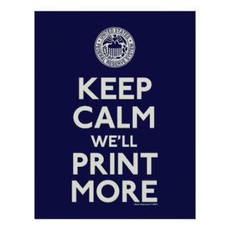 Keep Calm We'll Print More 21.5 Cm X 28 Cm Flyer