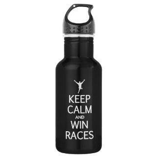 Keep Calm & Win Races - choose color 532 Ml Water Bottle