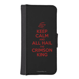 Keep Calm with the Crimson King iPhone SE/5/5s Wallet Case