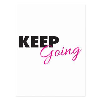 Keep Going - Inspirational Workout Saying Postcard