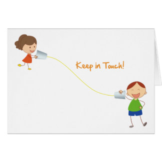 Keep in touch card (kids)