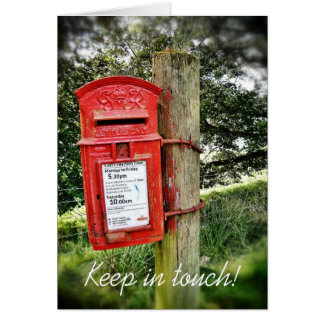 Keep in touch! greeting card