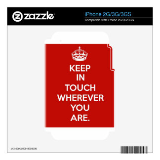 Keep in Touch iPhone 3GS Decal