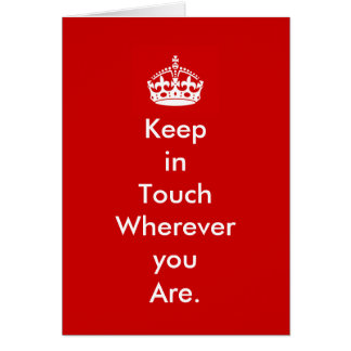 Keep in Touch Notecard Note Card