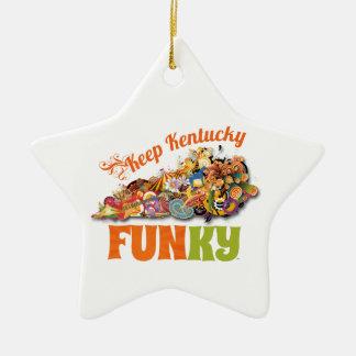 Keep Kentucky FunKY Christmas Ornament