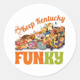 Keep Kentucky FunKY Classic Round Sticker