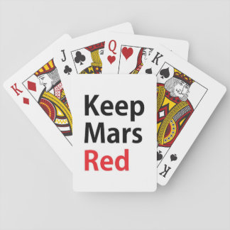 Keep Mars Red Playing Cards