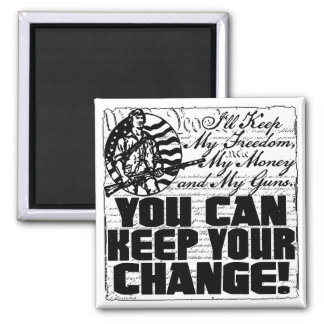 Keep My Freedom. Money and Guns Magnet