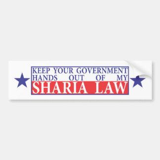 Keep off my Sharia Law Bumper Sticker
