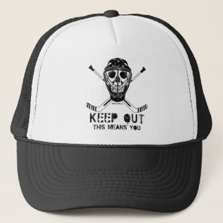 Keep Out - Hockey Goalie Trucker Hat