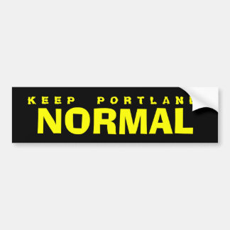 KEEP PORTLAND NORMAL BUMPER STICKER
