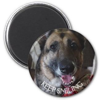 Keep Smiling German Shepherd Magnet