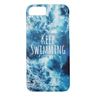 Keep Swimming Ocean Motivational iPhone 8/7 Case