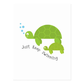 Keep Swimming Postcard