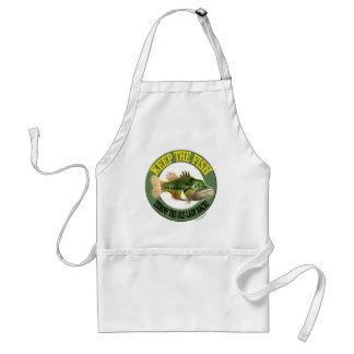 Keep The Fish Fishing T-shirts Adult Apron