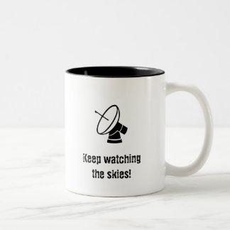 Keep Watching the Skies! Two-Tone Mug