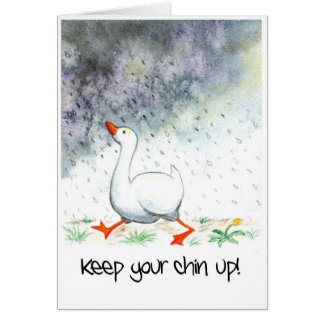 'Keep Your Chin Up!' Greeting Card