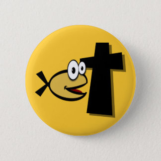 Keep Your Eyes on the Cross 6 Cm Round Badge