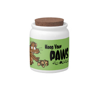 """Keep Your Paws Off"" Candy Jar"