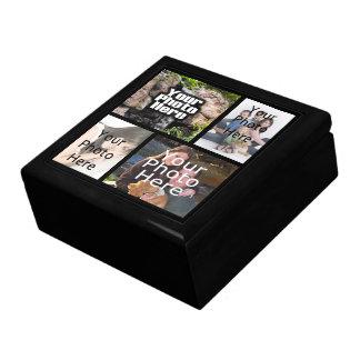 Keepsake Wood Jewelry Valet Box 4 Photo Collage Gift Box