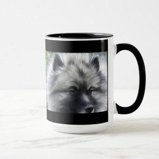 Keeshond coffee cup