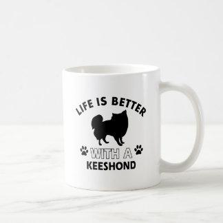 Keeshond dog breed designs coffee mug