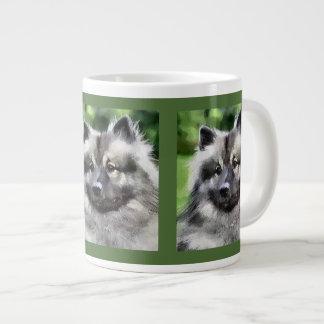 Keeshond Lovers Art Gifts Large Coffee Mug