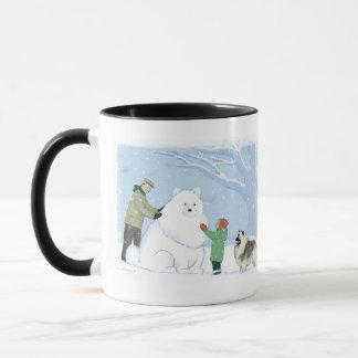Keeshond Snow Dog Mug