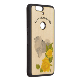 Keeshond with Yellow Roses Wood Nexus 6P Case
