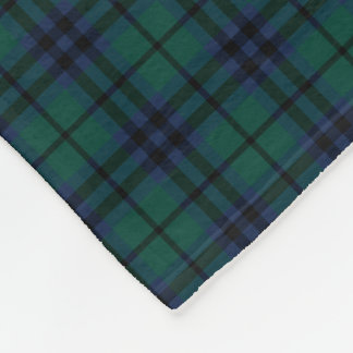 Keith Clan Dark Blue and Green Modern Tartan Fleece Blanket
