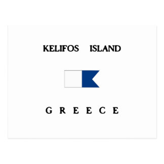 Kelifos Island Alpha Dive Flag Postcard