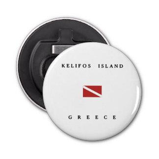 Kelifos Island Greece Scuba Dive Flag Bottle Opener