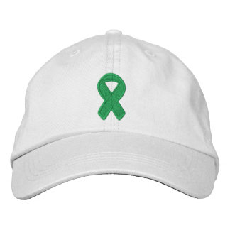 Kelly Green Ribbon Awareness Embroidered Cap