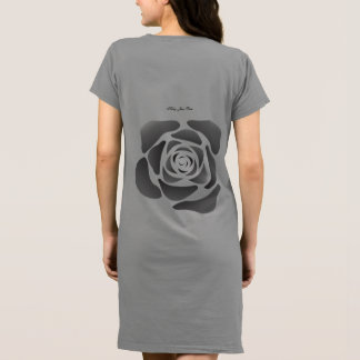 Kelly Jean Rose Black Rose On Grey Jersey (Ladies) Dress
