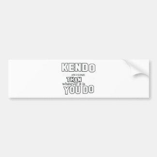 kendo martial design bumper sticker