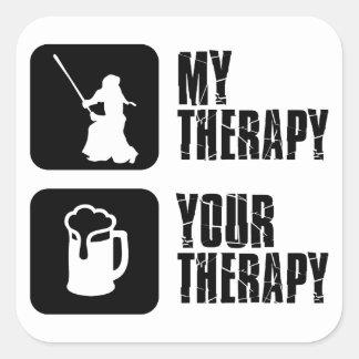 kendo  my therapy square sticker