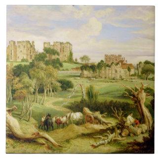 Kenilworth Castle, Warwickshire, 1840 (oil on pane Tile