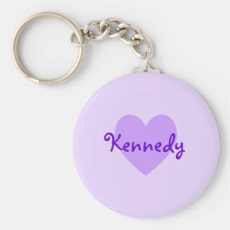 Kennedy in Purple Key Ring
