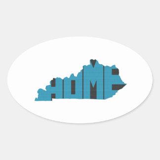 Kentucky Home State Oval Sticker