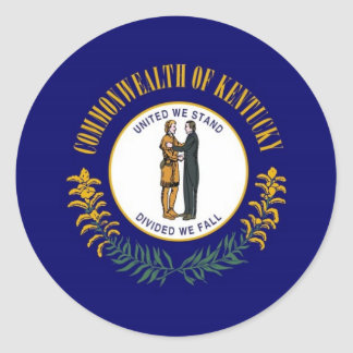 Kentucky State Flag Classic Round Sticker