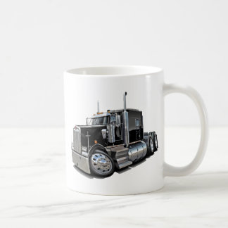 Kenworth w900 Black Truck Basic White Mug