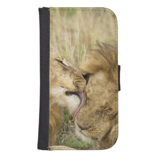 Kenya, Masai Mara. Close-up of one male lion Samsung S4 Wallet Case