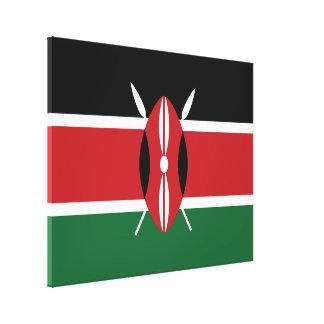 Kenya Plain Flag Canvas Print
