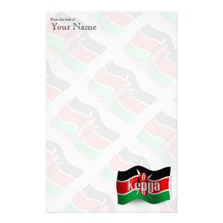 Kenya Waving Flag Stationery