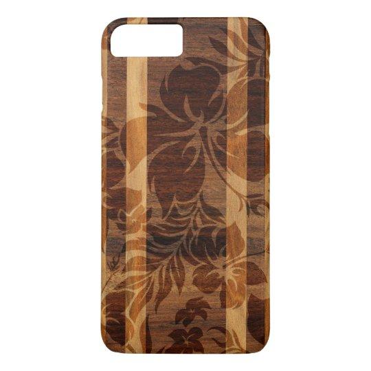 Keokea Beach Koa Faux Wood Surfboard iPhone 8 Plus/7 Plus Case