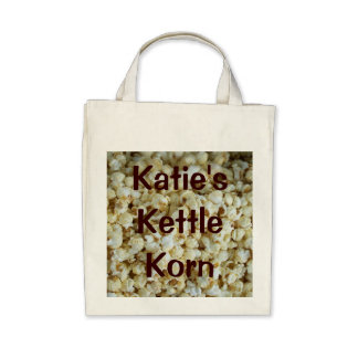Kettle Corn Organic Grocery Tote Bag