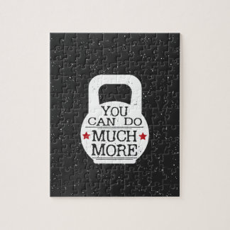 Kettlebell Print - You Can Do Much More Jigsaw Puzzle