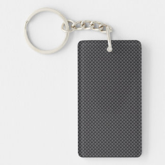 Kevlar Carbon Fiber Material Rectangular Acrylic Keychain
