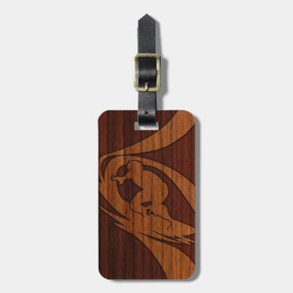 Kewalos Hawaiian Surfer Faux Wood Luggage Tags
