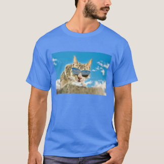 Kewl Kat wearing Sunglassses T-Shirt